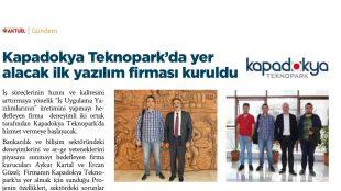 Kapadokya Teknopark'da yer alacak ilk yazılım firması kuruldu